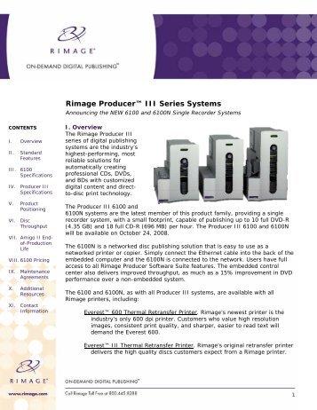 Rimage Producer III Publishing System - LegendCPS.com