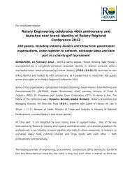 Rotary Engineering celebrates 40th anniversary ... - Investor Relations