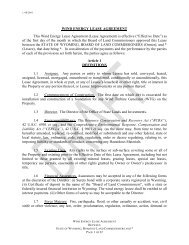 WIND ENERGY LEASE AGREEMENT - Wyoming State Lands