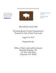Detailed analysis - Wyoming State Lands