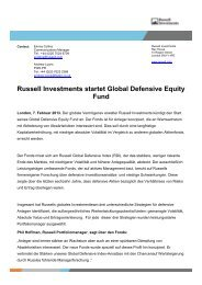 Russell Investments startet Global Defensive Equity Fund