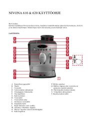 CafeRomatica 610/620 (PDF) - Nivona