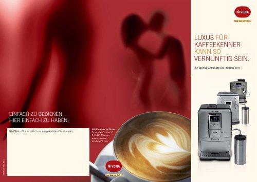 luxus für kaffeekenner kann so vernünftig sein. - Nivona