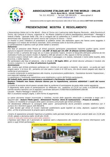regolamento e scheda d'iscrizione - Gruppo Artistico Melzese