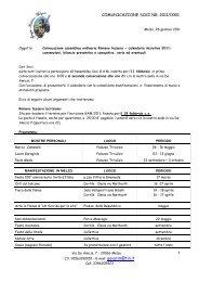 Convocazione Assemblea Ordinaria Soci - Programma attività 2011