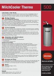 MilchCooler Thermo 500 - Nivona