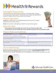 Rewards - Advocate Benefits - Advocate Health Care