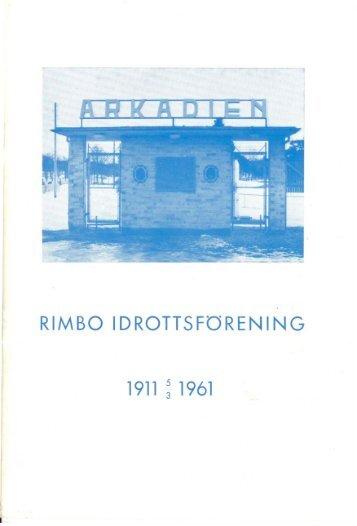 Jubileumsbladet 1961, RIF 50 år - Rimbo IF