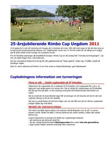 Rimbo Cup Ungdom 2011 - Rimbo IF