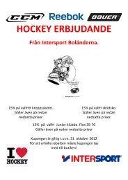 HOCKEY ERBJUDANDE - Rimbo IF