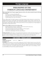 philosophy of the foreign language department - Lemont High School