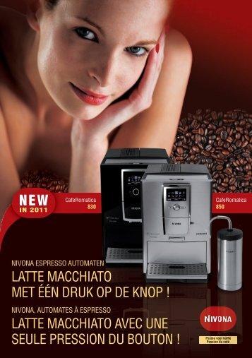 latte macchiato avec une seule pression du bouton