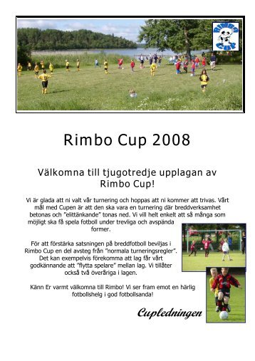 Information 2008 - Rimbo IF