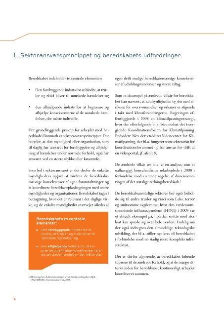 Regeringens redegørelse om beredskabet - Forsvarsministeriet