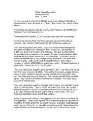 Milfoil Control Committee Meeting Minutes April 17, 2013 Members ...