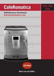 CafeRomatica Koffie/Espresso Volautomaat Gebruiksaanwijzing