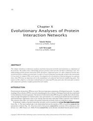 Evolutionary Analyses of Protein Interaction Networks