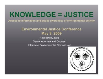 Knowledge = Justice - Interstate Environmental Commission