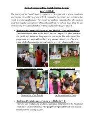 Report on the Social Service Program at AVS: 2012-13