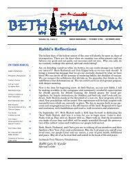 Volume 24-1 - Congregation Beth Shalom