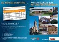 Ziele für den Ortsteil Zotzenbach im Wahlprospekt - CDU Rimbach