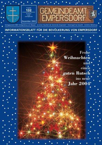 Weihnachten 2003 - Gemeinde Empersdorf