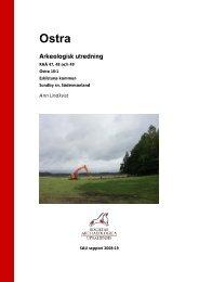 Arkeologisk utredning - SAU