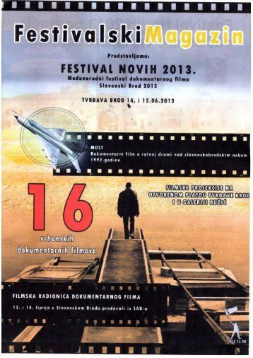 Magazin Festivala Novih 2013 - SBplus.hr