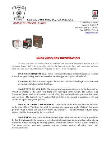 Department Registration + Order Options - Knox Box