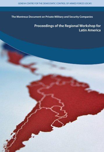 Proceedings of the Regional Workshop for Latin America