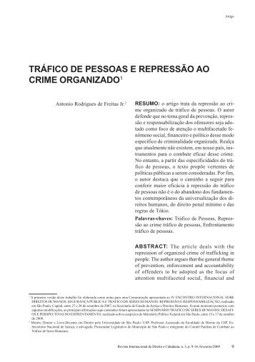 Tráfico de pessoas e repressão ao crime organizado - Ministério ...