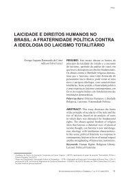 laicidade e direitos humanos no brasil - revista internacional direito ...