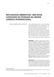 refugiados ambientais: uma nova categoria de ... - Reid.org.br