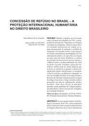 a proteção internacional humanitária no direito brasileiro - revista ...