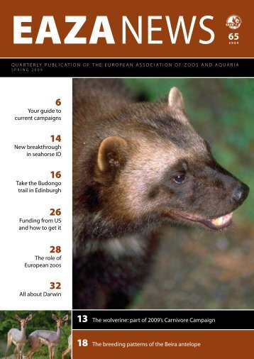 EAZA NEWS 65 - European Association of Zoos and Aquaria