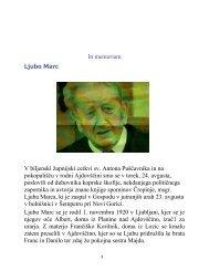 In memoriam Ljubo Marc V biljenski župnijski cerkvi sv. Antona ...