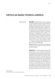 crítica da razão técnico-jurídica - revista internacional direito e ...