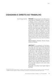 CIDADANIA E DIREITO AO TRABALHO - Reid.org.br