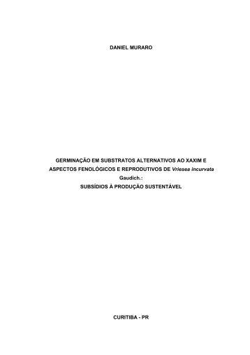 Daniel Muraro. - Oikos.ufpr.br - Universidade Federal do Paraná
