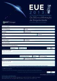 Ficha de Inscrição - Esri Portugal