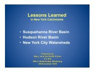 A synthesis of lessons from 3 US watersheds - Catchment ...