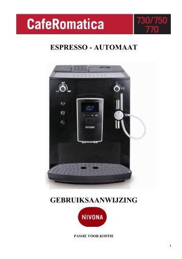 ESPRESSO - AUTOMAAT GEBRUIKSAANWIJZING - Nivona