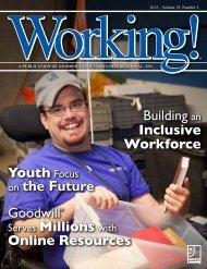 Fall 2012 Issue of Working! Magazine - Goodwill Industries ...