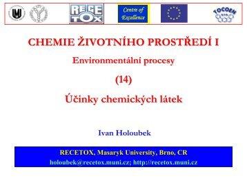 Nespecifická toxicita - Masaryk University