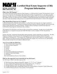 CRI Exam Application Form - NAHI