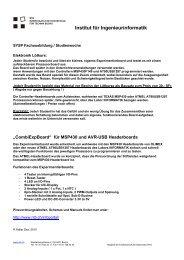 Institut für Ingenieurinformatik - NTB - Interstaatliche Hochschule für ...