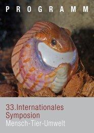 P R O G R A M M 33.Internationales Symposion ... - Blauer Kreis
