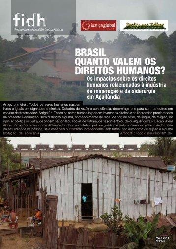 BRASIL QUAntO VALEm OS DIREItOS HUmAnOS? - Justiça Global