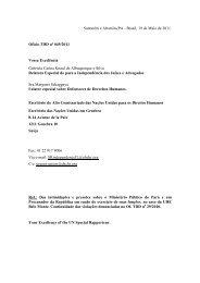 Denuncia à ONU de violação do direito à Jutiça - Xingu Vivo