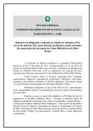 SENADO FEDERAL COMISSÃO DE DIREITOS ... - Xingu Vivo